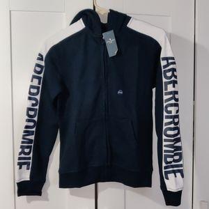 Abercrombie kids full zip logo hoodie